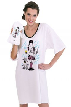 "Emerson Street ""I'd Rather Be Tailgating"" Nightshirt in a Bag"