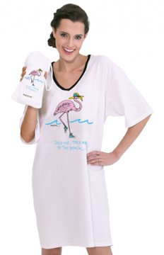 "Emerson Street ""Take Me...Take Me To The Beach!"" Nightshirt in A Bag"