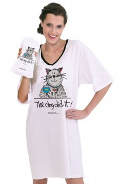 "Emerson Street ""The Dog Did It!"" Nightshirt in a Bag"