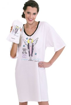 "Emerson Street ""Make Way For The Wine Fairy!"" Nightshirt in a Bag"