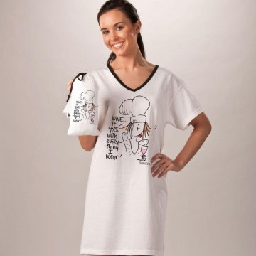 Emerson Street Wine...It Goes With Everything I Wear! Nightshirt in A Bag