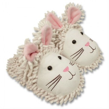 Fuzzy Friends Bunny Slippers from Aroma Home