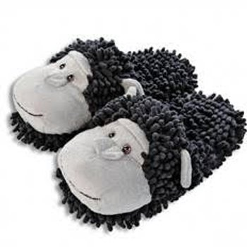 Fuzzy Friends Chimpanzee Slippers from Aroma Home