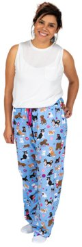 Little Blue House by Hatley Cute Pups Women's Cotton Jersey Pajama Pant in Blue