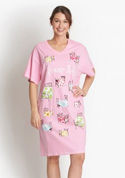 Little Blue House by Hatley Flower Beds Sleepshirt in Pink
