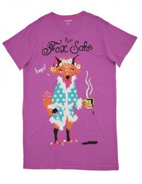 "Little Blue House by Hatley Nature ""For Fox Sake"" Women's Nightshirt in Purple"