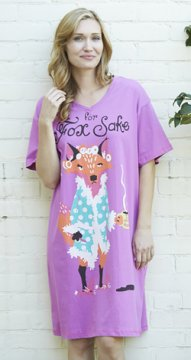 Little Blue House by Hatley For Fox Sake Sleepshirt in Purple