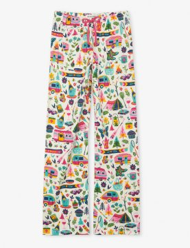 Little Blue House by Hatley Women's Glamping Cotton Jersey Pajama Pant