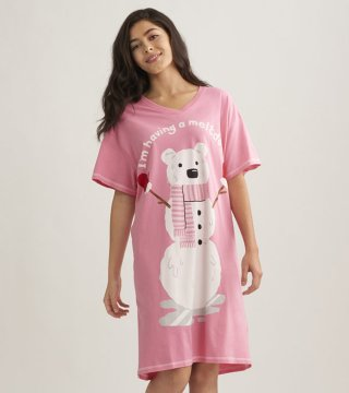 Little Blue House by Hatley I'm Having a Meltdown Sleepshirt in Pink