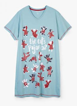 Little Blue House by Hatley Holiday Cat's Pajamas Women's Nightshirt