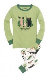 Little Blue House by Hatley Kids May The Forest Be With You Appliqué Pajama Set