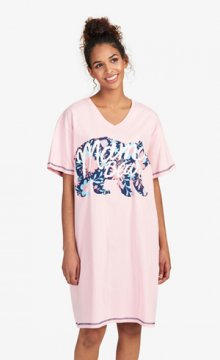 """Little Blue House by Hatley """"Mama Bear"""" Women's Nightshirt in Pink"""