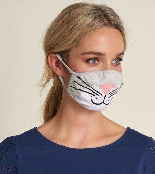 Little Blue House by Hatley Cat Non-Medical Reusable Adult Cotton Face Mask