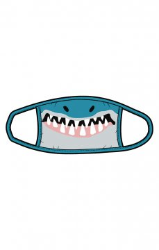 Little Blue House by Hatley Shark Non-Medical Reusable Kids Cotton Face Mask