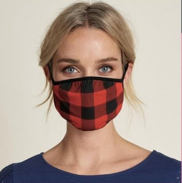 Little Blue House by Hatley Buffalo Plaid Non-Medical Reusable Adult Cotton Face Mask