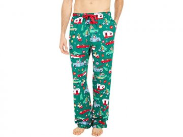 Little Blue House by Hatley Men's Retro Christmas Flannel Pajama Pant