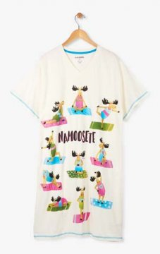 Little Blue House by Hatley Namoosete Women's Nightshirt in White