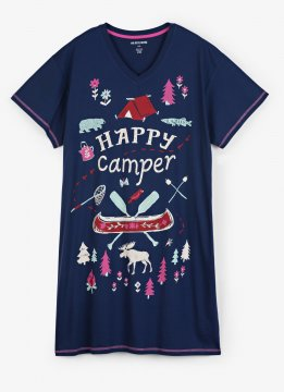 Little Blue House by Hatley Pretty Sketch Country Women's Nightshirt in Blue