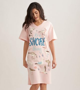 Little Blue House by Hatley Shore Thing Sleepshirt in Pink