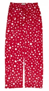 Little Blue House by Hatley Women's Snowballs Fuzzy Fleece Pajama Pant in Red