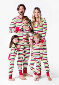 Little Blue House by Hatley Infant Christmas Stripe Union Suit
