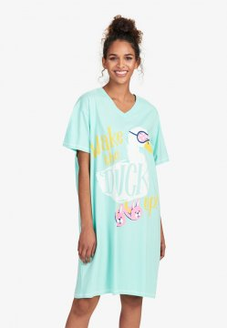Little Blue House by Hatley Wake The Duck Up Sleepshirt in Aqua