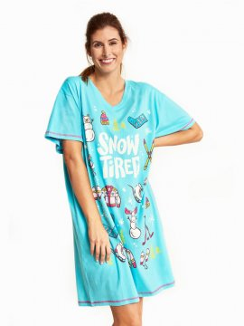 Little Blue House by Hatley Winter Traditions Women's Nightshirt in Blue