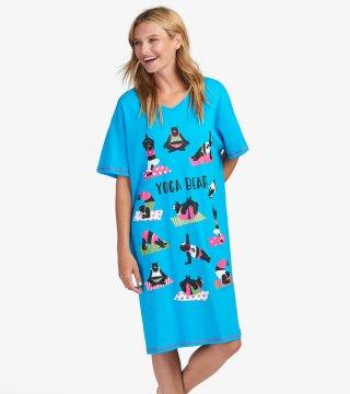 Little Blue House by Hatley Yoga Bear Sleepshirt in Blue