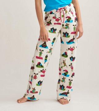 Little Blue House by Hatley Women's Yoga Bear Cotton Jersey Pajama Pants