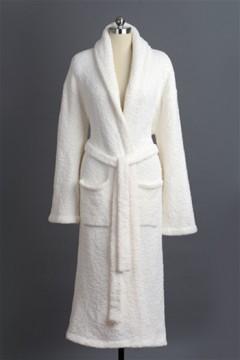Kashwere Super Soft Shawl Collared Robe in Cream