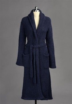 Kashwere Super Soft Shawl Collared Robe in Navy