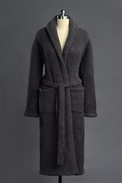 Kashwere Super Soft Shawl Collared Robe in Slate