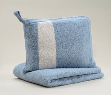 Kashwére Blue/Malt Travel Blanket