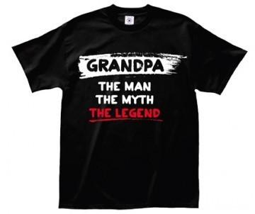 "LA Imprints ""Grandpa"" T-Shirt in Black"
