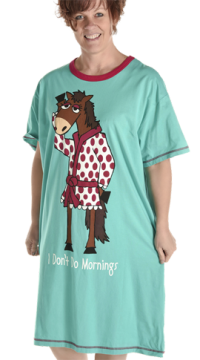 "Lazy One ""I Don't Do Mornings"" Horse Nightshirt"