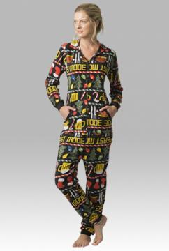 Boxercraft Feast Mode Adult Hooded Fleece Union Suit