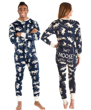 Lazy One Adult Unisex Classic Moose FlapJack in Navy
