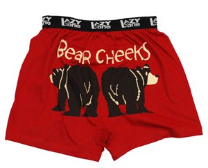 Lazy One Bear Cheeks Unisex Boxer in Red