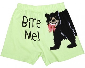 Lazy One Bite Me Unisex Boxer in Lime