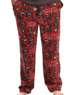 Lazy One Men's Don't Wake The Bear Cotton Knit Pajama Pant