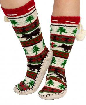 Lazy One Bear Essentials MukLuk Slipper Sock