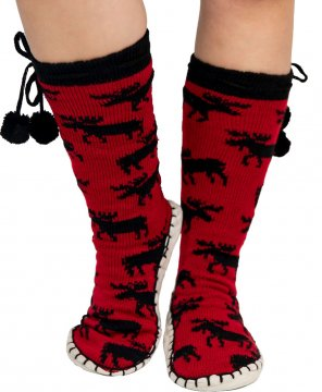 Lazy One Classic Moose MukLuk Slipper Sock