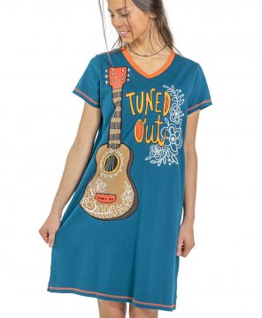 Lazy One Tuned Out V-Neck Nightshirt