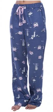 Munki Munki Women's Cat Hide and Seek Flannel Pajama Pant
