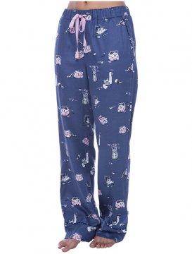Munki Munki Women's Cat Hide and Seek Flannel Pajama Pant
