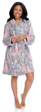 Munki Munki Women's Champagne Coral Fleece Robe