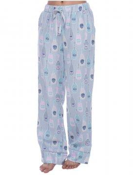 Munki Munki Women's Grey Champagne Dreams Flannel Pajama Pant