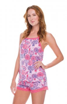 Munki Munki Women's Coachella Umbrella Jersey Tank and Short Set