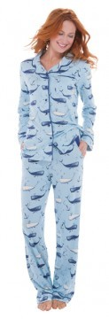 "Munki Munki ""Deep Sea Whales"" Cotton Jersey Classic Pajama Set"