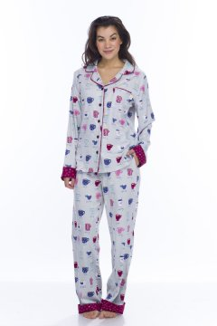 Munki Munki Women's Fancy Coffee Classic Pajama Set